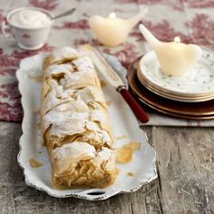 Apple & Marzipan Strudel Wish I could make this gluten free.