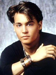 Oh Johnny Depp in his early years! Loved him then and enjoy everything about him forever!!