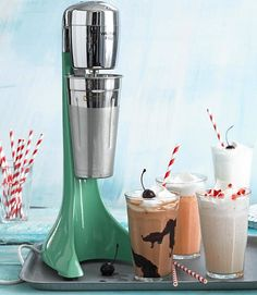 Waring Milk Shake & Drink Mixer, We know how cold it is outside, but really its never too cold for a milkshake. Cool Kitchen Gadgets, Cool Gadgets, Cool Kitchens, Kitchen Inventions, Kitchen Supplies, Kitchen Items, Kitchen Decor, Kitchen Products, Kitchen Dining