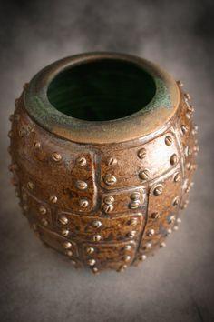 Steampunk Ceramic vase