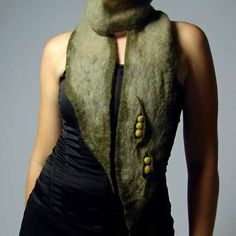 Pea Hand-Felted Scarf