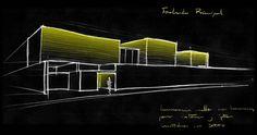 //Dibujo conceptual para la iluminación de la fachada en un proyecto residencial //MMH//