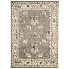 @Overstock - Rug Squared Springfield Grey Oriental Area Rug (3'9 x 5'9) - Featuring patterns and prints inspired from nature, including intertwining leaves, vines, botanicals, blossoms and blooms, the Springfield area rug brings the great outdoors poetically inside in the most refined and resplendent of ways.  http://www.overstock.com/Home-Garden/Rug-Squared-Springfield-Grey-Oriental-Area-Rug-39-x-59/9577646/product.html?CID=214117 $89.59