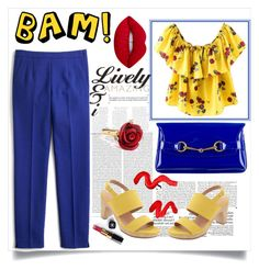 """""""Bam!"""" by samiovine ❤ liked on Polyvore featuring Oris, Kershaw, Old Navy, J.Crew, Gucci, Lime Crime, Oscar de la Renta, Chanel and Topshop"""