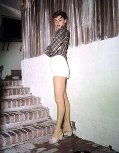 Audrey, in full color. {I believe thisi shot is from her Sabrina days.} #Audrey #Hepburn