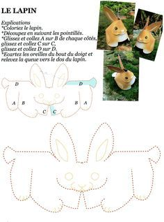 Un joli petit lapin en pliage et collage. (de la part d'Annie B.)