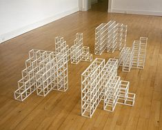 Five Modular Structures (Sequential Permutations on the Number Five) - Sol LeWitt.