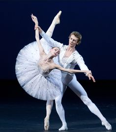 "Bolshoi Ballet principal Olga Smirnova in George Balanchine's ""Diamonds"" from Jewels (photo by Elena Fetisova)"
