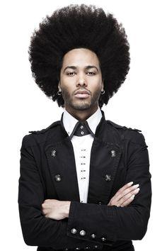 Love his hair! Men Are Beautiful. afro man