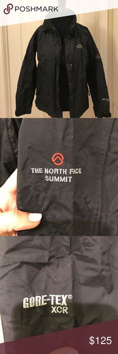 The North Face Summit Series Gore-Tex Black Jacket In Excellent condition ✨ Black Color✨ Summit Series Jacket with Gore-Tex which is guaranteed to keep you dry ✨ Size Small ✨ Raintex The North Face Jackets & Coats