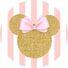 Minnie mouse gold. Best and pink