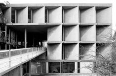 Le Corbusier - The Carpenter Center for the Visual Arts at Harvard University. (The only building by Le Corbusier in North America)