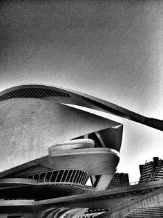 City of Arts And Sciences in Valencia. Palau de les Arts.