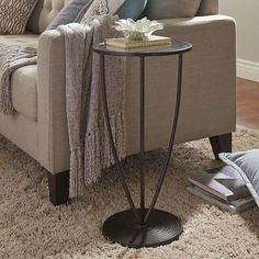 Avenue Glass Top Accent Table