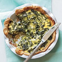 Quiche Recipes Under 300 Calories  | Spinach, Green Onion, and Smoked Gouda Quiche | MyRecipes.com