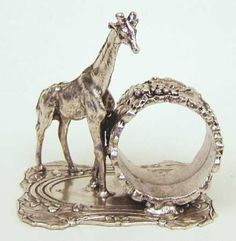 antique silverplate napkin ring~giraffe~rare - Bing Images