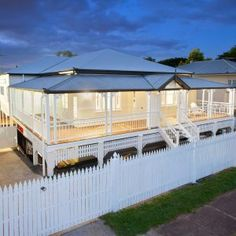 For one young growing family living in a traditional more › Queenslander House, Weatherboard House, I Lak, Cottage Lounge, Types Of Roofing Materials, Two Storey House, Cottage Exterior, Decks And Porches, Australian Homes