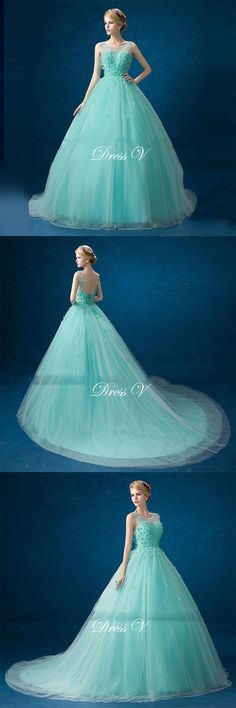 2017 Prom dress from teal-ish collection. Designed and made by DressV, brokered to you by Canagrill Trading Inc. Visit my portal for amazing discount! Teal Prom Dresses, Prom Gowns, Quinceanera Dresses, Ball Gowns, Sweet 16 Dresses, Pretty Dresses, Dress Collection, Portal, Designer Dresses