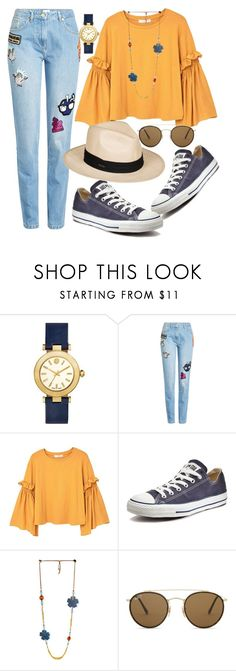 """Untitled #308"" by ivana-j ❤ liked on Polyvore featuring Tory Burch, Kenzo, MANGO, Converse, Ray-Ban and Roxy"