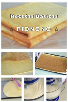 Cómo hacer un PIONONO CASERO para rellenar... New Recipes, Cookie Recipes, Baked Goods, Tea Time, Cheesecake, Deserts, Snacks, Cooking, Cake Batter