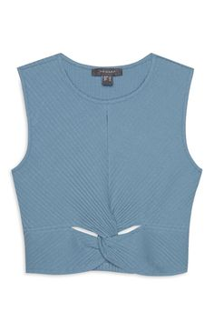 Primark - Blue Tight Front Crop Top Primark, Marni, Tights, Crop Tops, Amazing, Womens Fashion, T Shirt, Clothes, Outfits