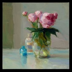 Peonies and Bottles