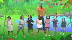 """Sing """"Down in the jungle"""" and dance together. It is not too difficult to dance and sing, so children engage easily and are fun. Jungle Activities, Preschool Jungle, Physical Activities, Jungle Music, Jungle Theme, Jungle Jungle, Kindergarten Music, Preschool Music, Music For Kids"""