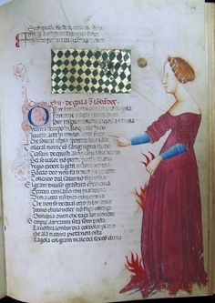 Cecco d'Ascoli L'Acerba , l'Envie, Florence, Biblioteca Medicea Laurenziana