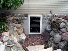 Hardscaping is an excellent option for basement easements!