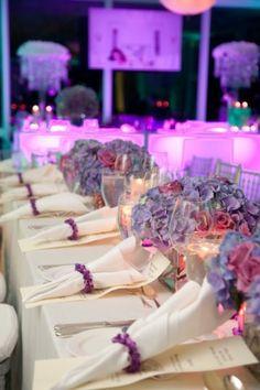 "Bat Mitzvah ""The Power of Purple"" @ Metropolitan Country Club, NY - by Damselfly Designs"