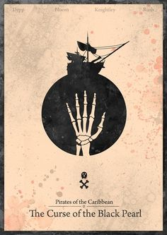 Pirates of the Caribbean, Curse of the Black Pearl #minimal #movie #poster