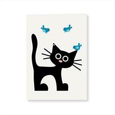 """""""Cut it out"""" Card - Cat"""