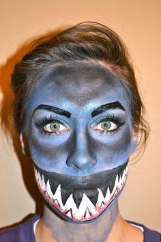 Shark Halloween, Pirate Halloween, Halloween Makeup, Halloween Costumes, Halloween Ideas, Halloween 2019, Diy Shark Costume, Shark Costumes, Animal Costumes