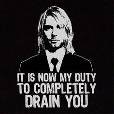 Drain You - Nirvana Nirvana Lyrics, Nirvana Tattoo, Sorry For Everything, Foo Fighters Nirvana, Donald Cobain, Nirvana Kurt Cobain, Smells Like Teen Spirit, Funny Tattoos, Paramore
