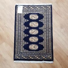 Pakistan Princes Bokhara design rug is hand-knotted, with fine wool Size : cm Rugs In Living Room, Home Decor Bedding, Navy Rug, Rugs, Rugs Online, Bedroom Rug, Rugs On Carpet, Handmade Rugs, Door Mat