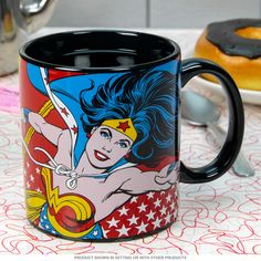 Wonder Woman Classic Red Coffee Mug | Superhero Coffee Mugs | RetroPlanet.com #retro #mug #wonderwoman  What better way to start your day than with a superhero?!