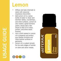 doTERRA Lemon Usage Guide http://www.mydoterra.com/oilbyash/