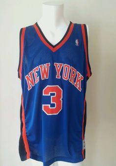 NBA Authentic New YorK Knicks Starks #3 Starter Jersey Blue Size 54 #Starter #NewYorkKnicks