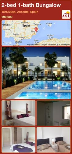 2-bed 1-bath Bungalow in Torrevieja, Alicante, Spain ►€99,000 #PropertyForSaleInSpain