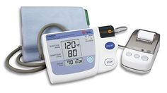 """Omron HEM 705 CP Auto Inflate Blood Pressure Monitor with Printer. Standard Adult cuff fits arms 9"""" to 13"""" in circumference. 28 memory recall. Printer will print out blood pressure and pulse readings in either numerical or bar graph form. Clinically proven accuracy. 5 year warranty."""