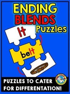 #ENDING #BLENDS #JIGSAW #PUZZLES  ***#phonics *** #literacy #game