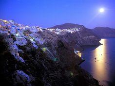 #FullMoon #SantoriniIsland ♥