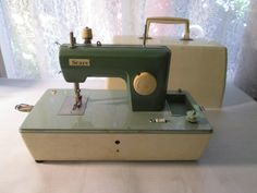 "Toy Sewing Machine Vintage 1950s, ""Sears"" Battery Operated, Made in Japan by CraftyOldGranma on Etsy"