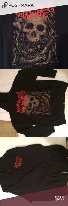 Motionless In White Hoodie Worn a couple times, good condition. No rips, no tears.  The pictures were taken before it was washed, but I will be washing it before it's sent in the mail :) Hot Topic Jackets & Coats