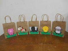 Zoo Animal Favor Bags Farm Animals by MyThreeSonsByKristin on Etsy