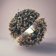 Third round of daily renders. Done in Cinema using Octane render, X-Particles and World Machine. Post done in photoshop. 3d Cinema, Music Visualization, Cinema 4d Tutorial, Globe Art, Organic Art, 3d Artwork, Futuristic Design, Cg Art, Sculpture