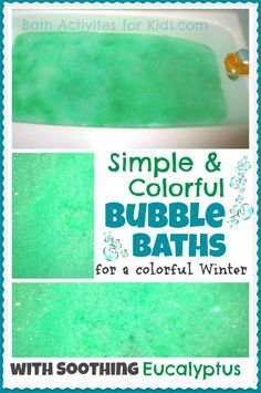 Introducing the first in a collection of simple and colorful bubble baths! This one is perfect for Winter as it has the added element of soothing eucalyptus!