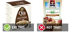 We combed through over 100 options to determine the best and worst instant oatmeal packets for your favorite types of instant oatmeal. Instant Oatmeal Recipes, Oatmeal Packets, Best Oatmeal, Eat Smart, Ww Recipes, Brown Sugar, Healthy Snacks, Coconut, Food
