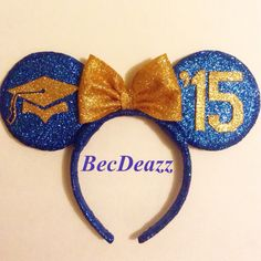 Class of 2015 Glitter Ears Diy Disney Ears, Cute Disney, Disney Mickey, Disney Day, Disney 2017, Disney Trips, Disney Headbands, Disneyland Outfits, Graduation Diy