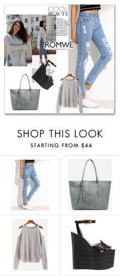 """""""10/03"""" by ermina-camdzic ❤ liked on Polyvore featuring Gucci and romwe"""